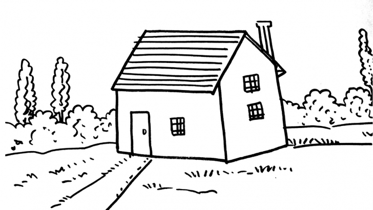 Awesome How To Draw A House For Kids (Step By Step) - Youtube How To Draw Home For Kids Photo