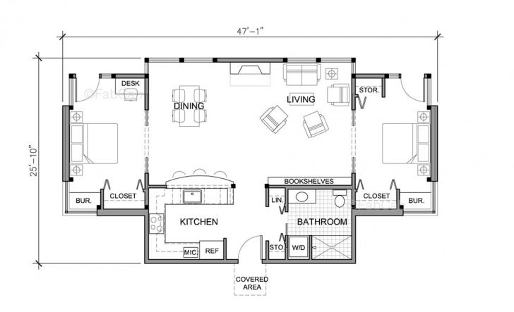 Awesome One Floor Cottage House Plans - Homes Floor Plans Small Single Story House Floor Plans Picture