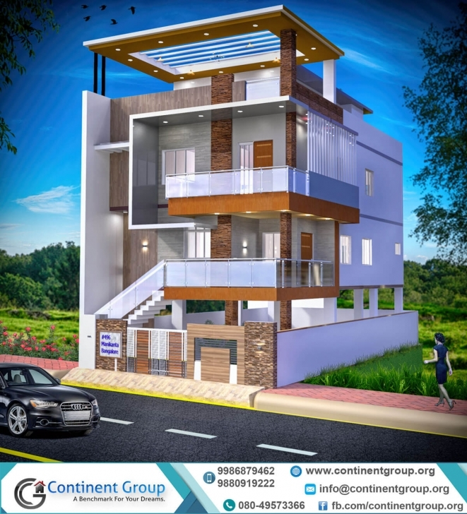 Awesome Project Gallery-Building Elevation-3D Floor Plan-Interior Design Modern 3D Elevation Image