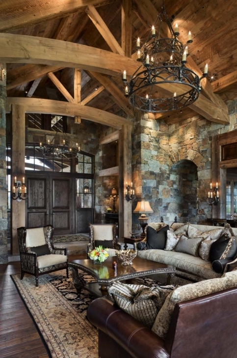 Awesome Rustic Yet Refined Mountain Home Surrounded By Montana's Wilderness Rustic Mountain Home Decor Image