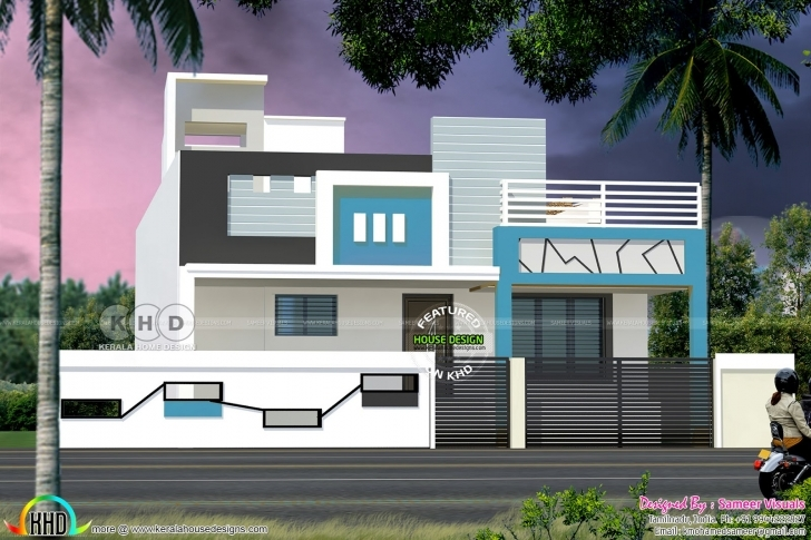 Awesome Single Floor South Indian Style 1100 Square Feet Home | Kerala Home South Indian Single Floor Home Picture