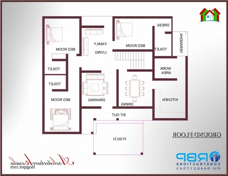 Awesome Small 3 Bedroom House Plan Images Three Kerala Inspirational Plans Small 3 Bedroom House Plans Image