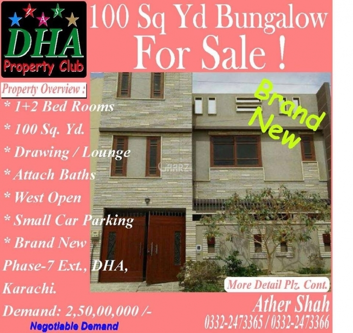 Best 100 Square Yard House For Sale In Dha Phase-7 Karachi - Aarz.pk 100 Square Yard House For Sale Picture