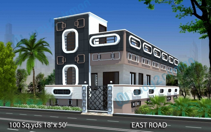 Best 91+ 100 Yard Home Design - Fancy Inspiration Ideas Front Design Of 100 Square Yard House Elevation Photo