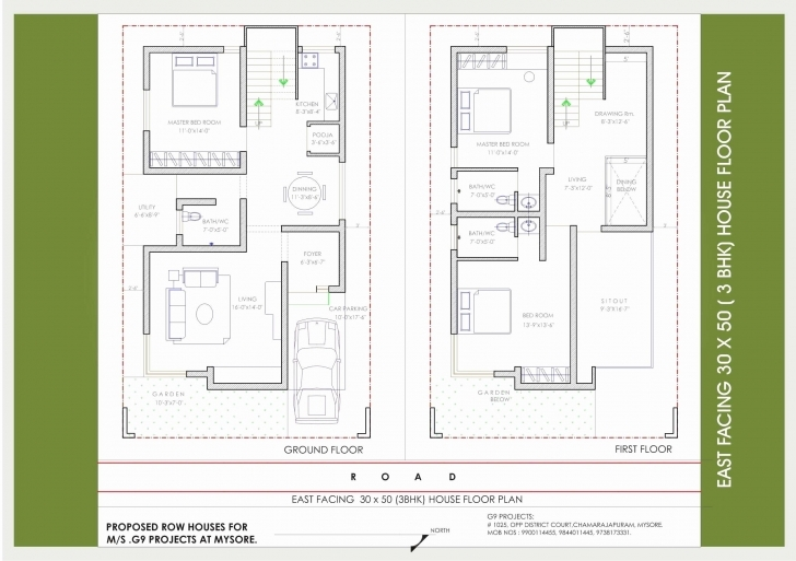 Best Awesome 30X50 House Plans East Facing | House Design East Facing House Vastu Plan 30X50 Image