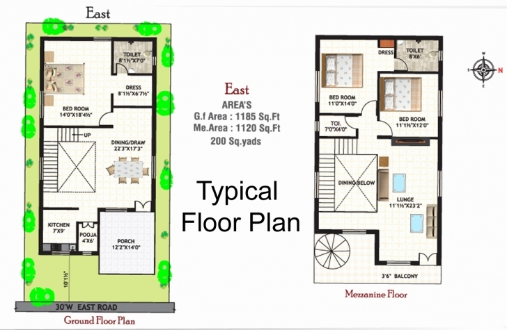 Best Best House Plan For 20*50 Best Of South Facing Duplex House Plans 20*50 Duplex House Plan Image