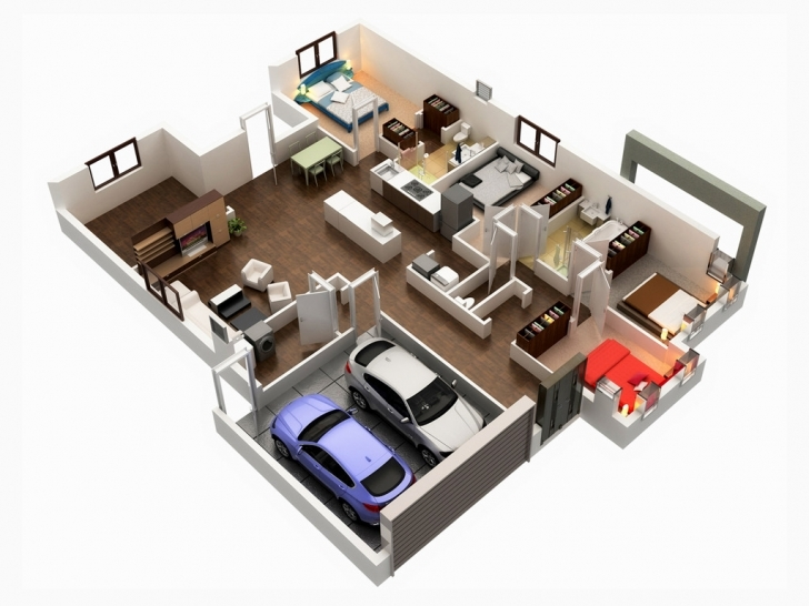 Best Extremely Creative 3D 5 Bedroom House Plans 7 On Modern Decor Ideas 5 Bedroom House Plan 3D Image