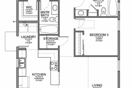 Three Bedroom Flat Plan