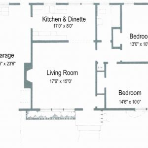 Simple House Plan With 2 Bedrooms And Garage