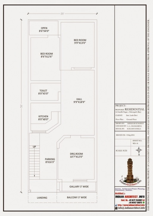 Best Here Is Plan And 3D View Of 1000 Sq Ft Modern Contemporary Villa 20 * 50 House Plan 3D Image