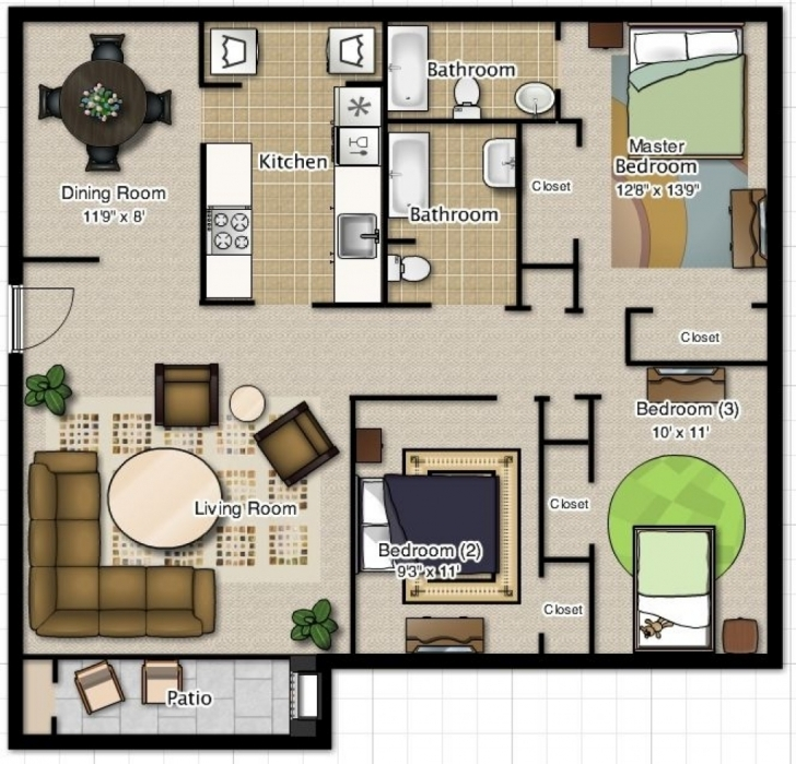 Best Home Architecture: House Plan Low Budget Modern Bedroom House Design Low Budget Modern 3 Bedroom House Design Floor Plan Picture