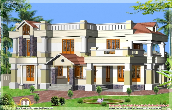 Best House Elevation Kerala Style | The Base Wallpaper Kerala House Front Elevation Designs Pic
