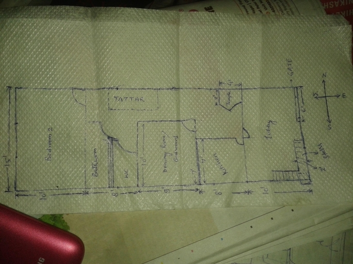 Best Map For 15Ft By 45 Ft - Gharexpert 15Ftby 15Ft Home Design Photo