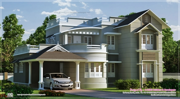 Best New Style Home Exterior Feet Kerala Design Floor - House Plans | #43843 New House Images Kerala Picture