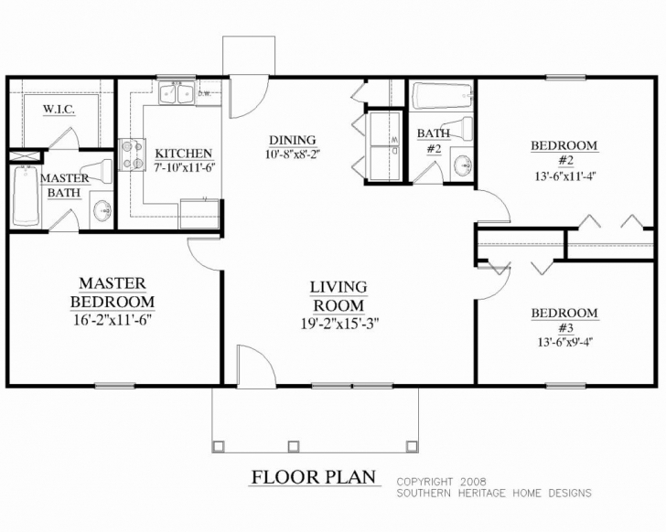 Best Ranch Floor Plan For 1400 Foot Home - Home-Improvements 1500 Sq Ft House Plans 2 Bedrooms Image