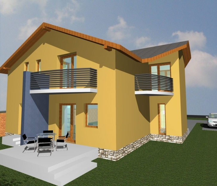 Best Small House Plan For Buildings. 2 Storey House With 3 Bedrooms Modern Nigerian 2-Story House Plans Image