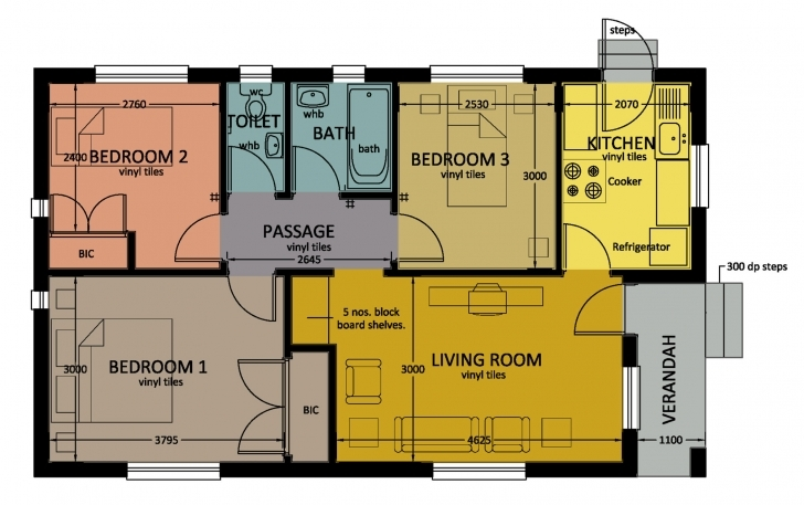 Best Type 67 | Bhc 3 Bed Room Floor House Plans In Jwaneng Photo