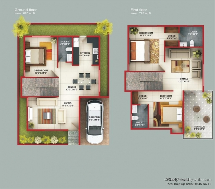 Best Wonderful Ideas 9 Duplex House Plans For 30X50 Site East Facing 30X50 East Facing House Map Pic