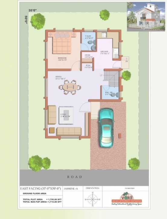 Brilliant 19 New 20 40 Duplex House Plan | Spaceftw 20*35 House Plan South Facing Pic