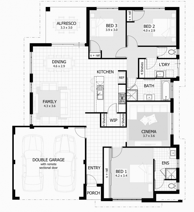 Brilliant 7 Top Three Bedroom House And Plan 3 Bedroom House Floor Plans New 3 3 Bedroom Building Plan For Houses Photo