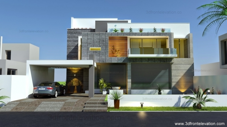 Brilliant Beautiful Modern Contemporary House Elevation Architectural - Home Best House Elevation Picture