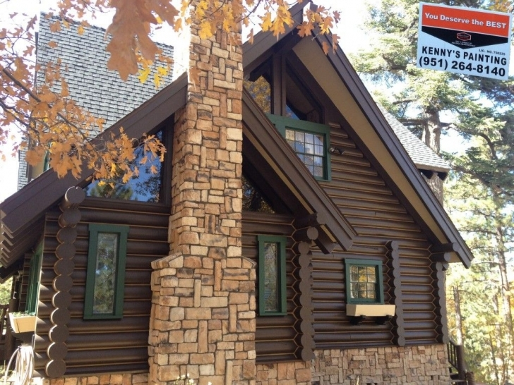 Brilliant Big Bear Log Home Painted By Kennys Painting | Log Home | Pinterest Painted Log Homes Exterior Photo