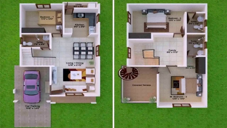 Brilliant House Plan Design 15 X 45 - Youtube 15*45 Duplex House Plan Image