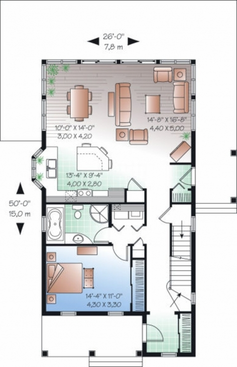 Brilliant House Plan For 27 Feet By 50 Plot Size 150 Square Yards Fancy X 23 * 50 House Plans Picture