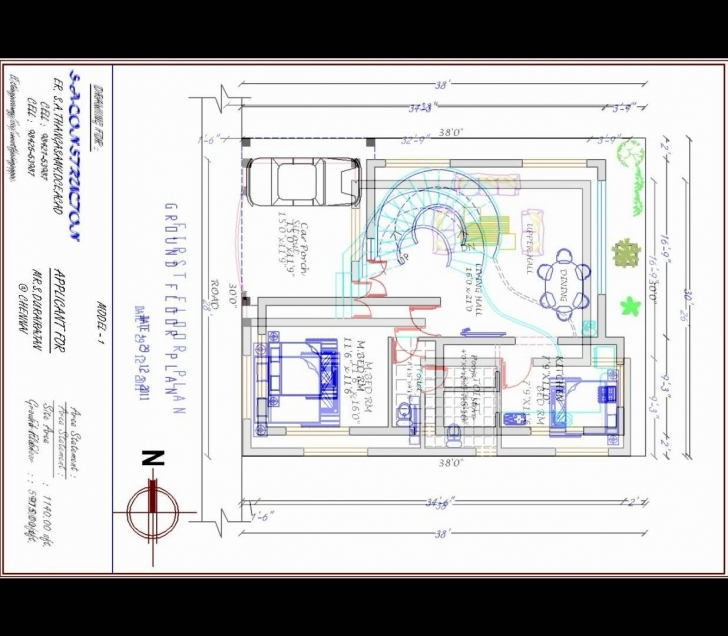 Brilliant House Plan West Facing.mp4 - Youtube 13X50 House Plan Image