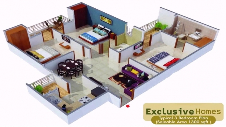 Brilliant House Plans In 1000 Sq Ft Indian Style - Youtube 1000 Sq Ft House Plans Indian Style 3D Picture