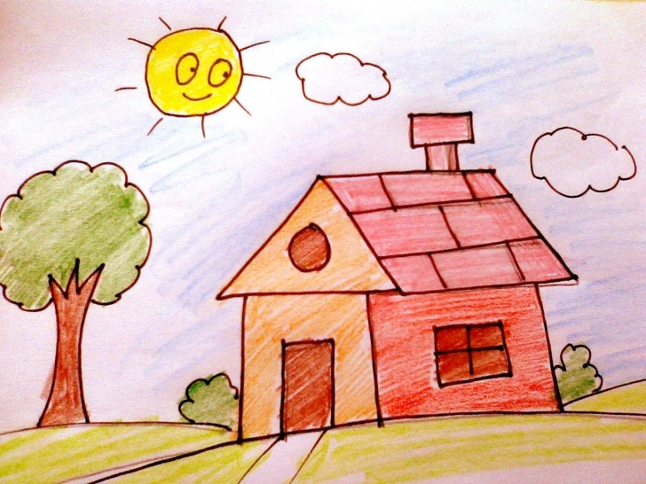 Brilliant How To Draw A House For Kids - Youtube How To Draw Home For Kids Picture