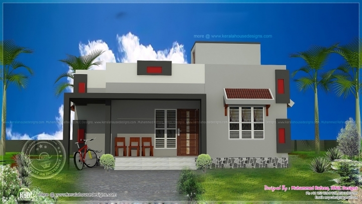 Brilliant Inspirations: 3D Building Elevation Designs For Single Floor With Village House Front Elevation Designs For Single Floor Image