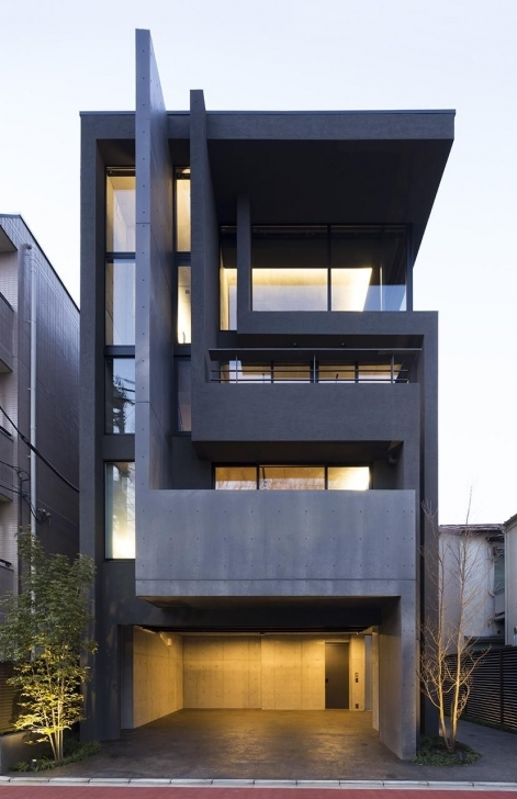 Brilliant Okm: 4 Story Building Designed For A Private Residence And Apartment Modern Architecture House Buildings Picture