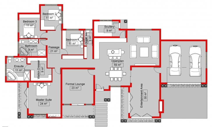 Brilliant South African 4 Bedroom House Plans — House Style And Plans House Plans South Africa 4 Bedroomed Pic