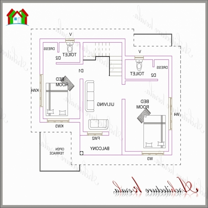 Classy 1 Bedroom House Plans Kerala Style Lovely Home Plan Design 800 Sq Ft 800 Sq Ft House Plans Kerala Style Image