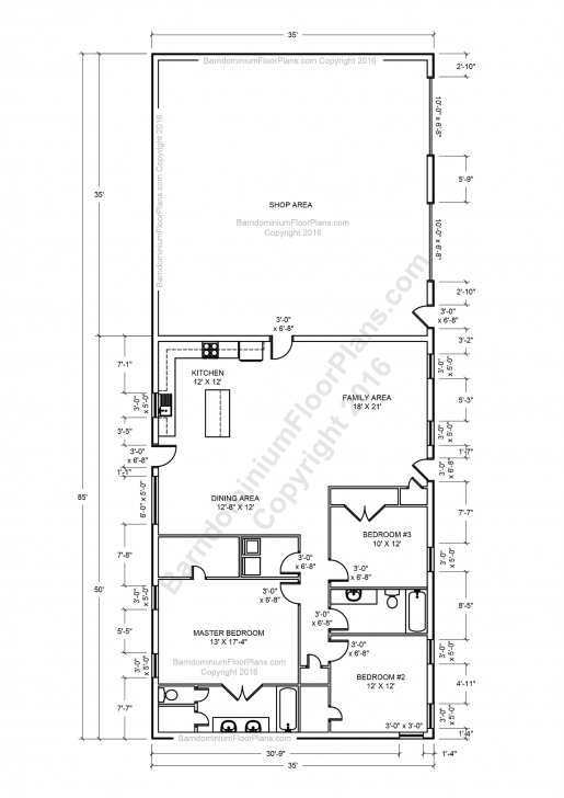 Classy 30×50 Metal Building House Plans Plan No House Plans By House Planning 16*50 Photo