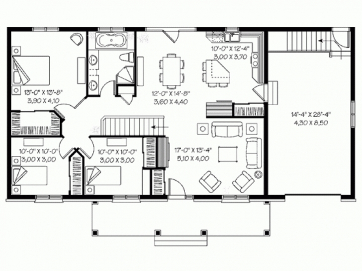 Classy 4 Bedroom Bungalow House Designs 4Bedroom Bungalow And The Floor Plan Pic