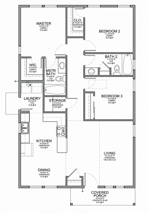 Classy 50 Lovely Gallery Simple House Plans In Nigeria - Home Inspiration Three Bedroom Floor Plan In Nigeria Image