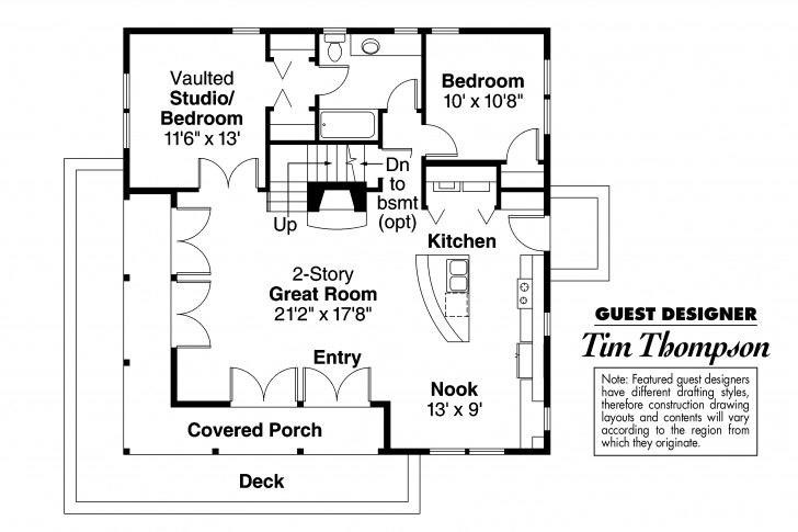 Classy Craftsman House Plans - Cedar View 50-012 - Associated Designs 21 By 50 Floor Plans Picture