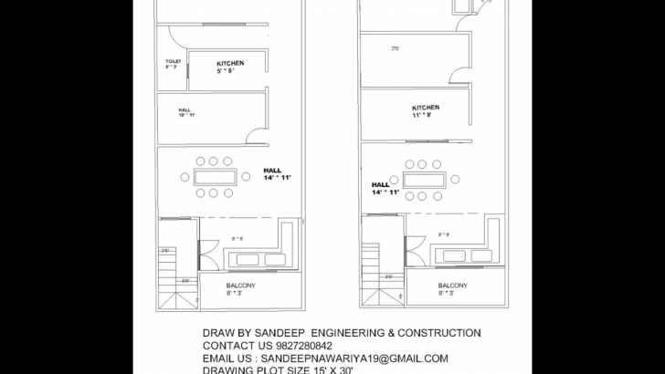 Classy Different Elevation And Design Planning Of 15 X 30 House Contact Us 15X50 House Design Drawing Photo