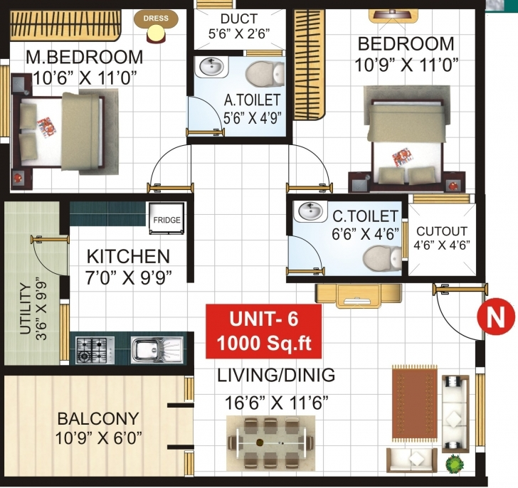 Classy Extraordinary Design Ideas 1000 Sq Ft House Plans In Chennai 5 Home 1000 Sq Ft Photo