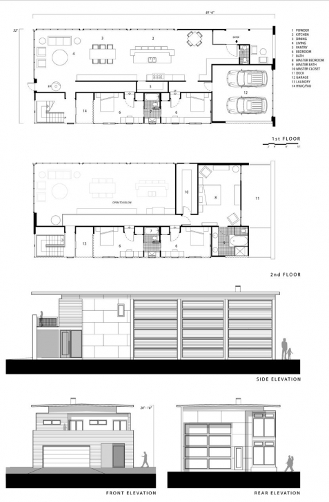 Classy Floor Plans And Elevation From That Logical Homes Catalan 3210 Modern Plan And Elevation Pic