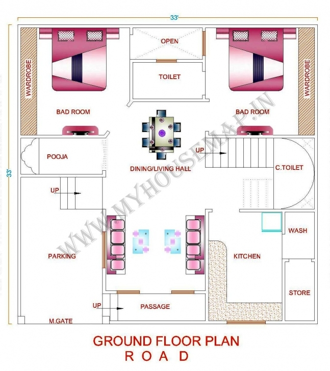 Classy House Plan 30 X 35 Luxury Home Map Design Cool 30—35 Cool Home Map House Maps For 30×50 Pic