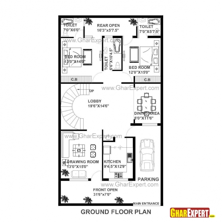 Classy House Plan Of 30 Feet By 60 Feet Plot 1800 Squre Feet Built Area On Gharexpert House Plan Clear Draw Image