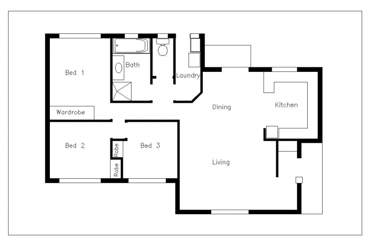 Classy House Plan Using Autocad Elegant House Plan Glamorous 11 Floor Plan Autocad 2D Residential Building Plan Picture