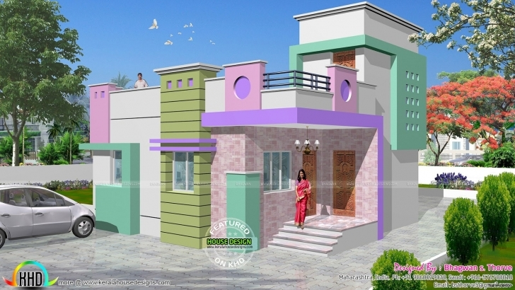 Classy Indian Single Floor Home Front Design Fresh On Wonderful Simple One Indian Single Floor Home Front Design Image
