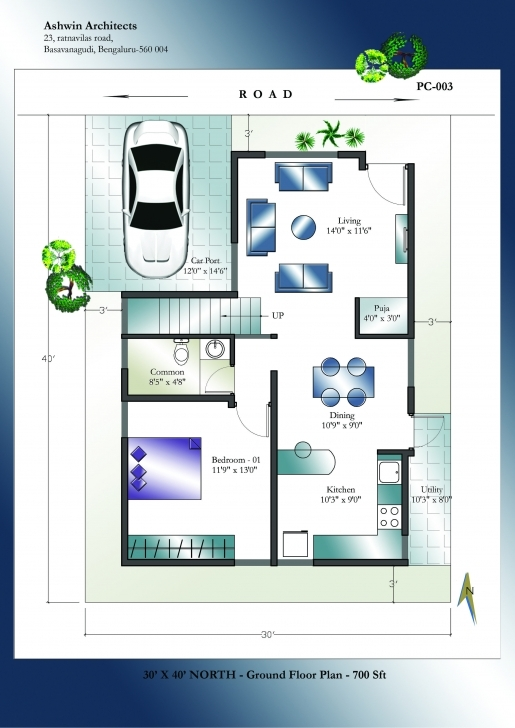 Classy Looking For Superior 30 X 40 North Facing House Plans In India? Get 30X45 House Plan North Facing Image
