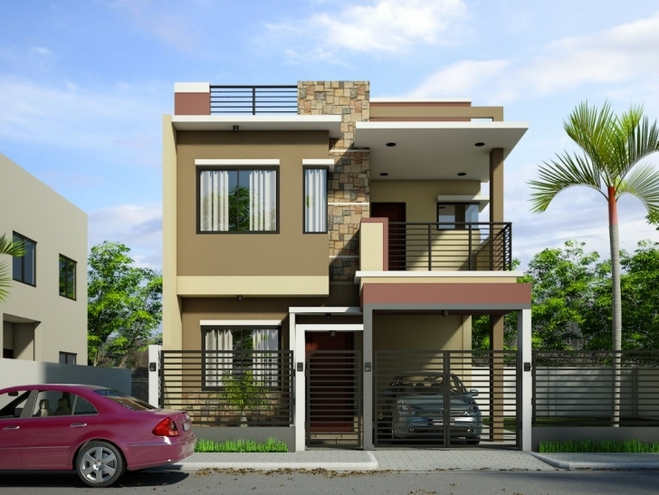 Classy Modern Double Story House New 2 Storey Modern Small Houses With Gate Home Front Design Double Floor Photo
