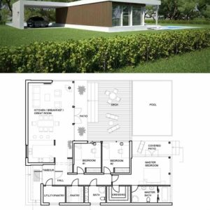 Modern House Floor Plan And Elevation