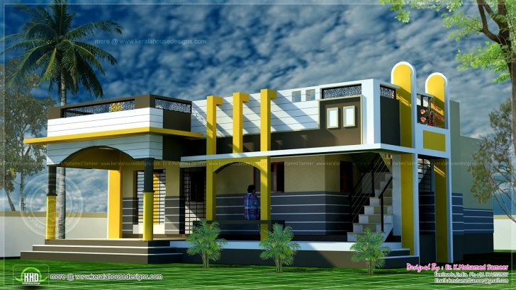 Classy Small House Design Contemporary Style Indian Plans - Building Plans Small Indian House Designs Images Picture
